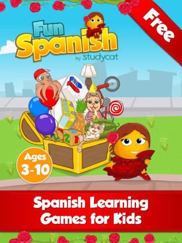 Screenshot - Fun Spanish: Spanisch lernen - Lesen, Sprechen  and  Buchstabieren lernen. Sprach Lernspiele für Kinder von 3 bis 10