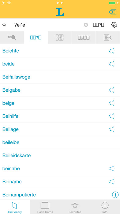 German Learner's Dictionary Langenscheidt iPhone Screenshot 4