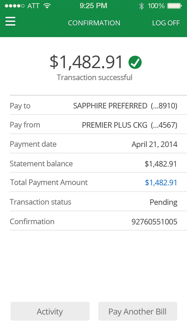 how to stop a pending transaction chase