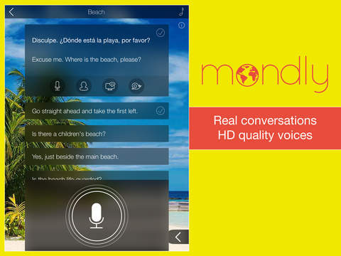 Learn Spanish FREE: Interactive Conversation Course with Mondly to speak a language screenshot