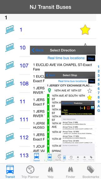 NJ Transit Instant Bus - Public Transportation Directions and Trip Planner