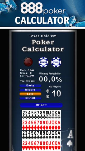 Poker Calculator for 888Poker