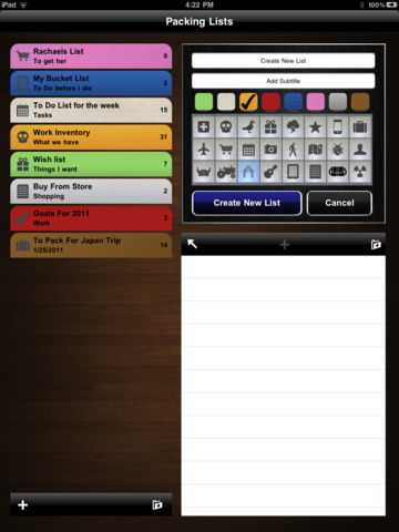 Awesome Lists - To do + Lists for iPad