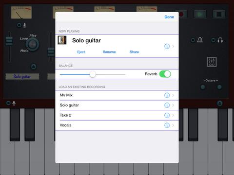 4 Tracks Audio Recorder iPad Screenshot 2