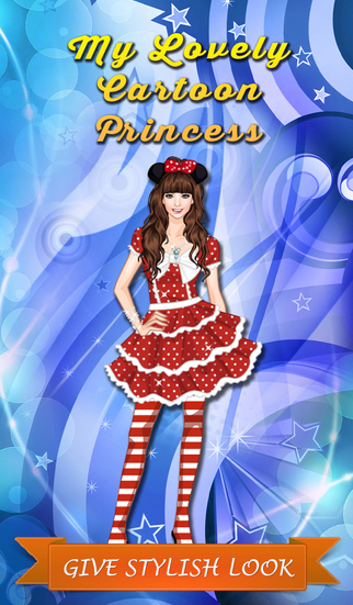 My Lovely Cartoon Princess - Stylish dress up game for girls and kids