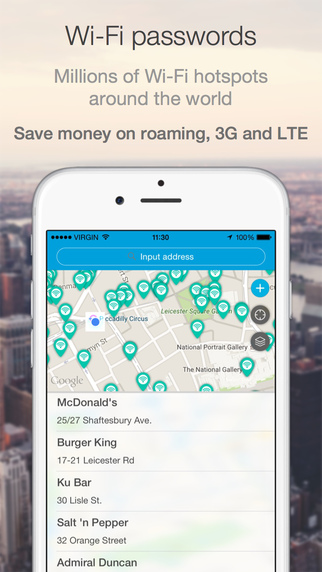 WiFi Dots Free - hotspots and passwords for free internet access