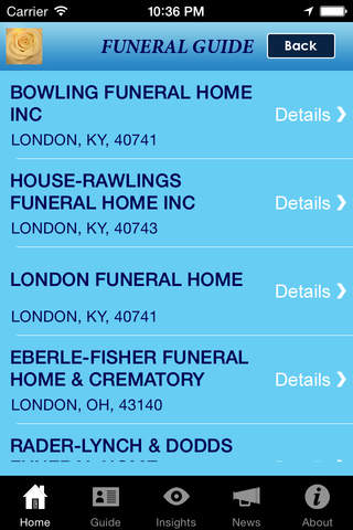 Funeral Guide screenshot 4