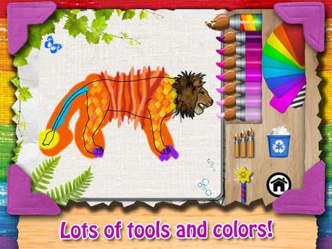 Paint My Zoo - Magic 3D Animal and Dinosaur Coloring iPad Screenshot 2