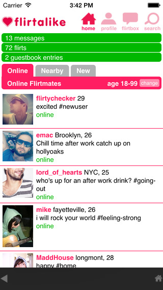 Flirtalike - the chat flirt and dating community to make new friends and find love