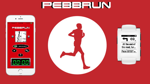 PebbRun-Fitness GPS Navigation and Pace Alert for Pebble Smartwatch