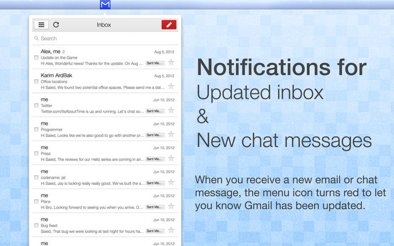 App for Gmail Email  Chat Screenshot - 2