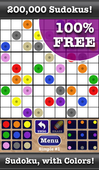 Color Sudoku by Boy Howdy - Logic and Math Puzzle Game to Fill the Grid with Colors