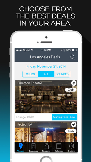 Reserve Tonight - Bottle Service Reservation App Best Deals at NightClubs Lounges in your area
