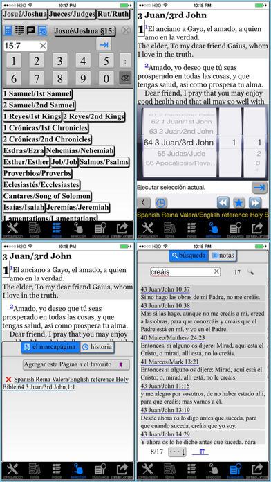 Spanish(Reina Valera)/English reference Bible iPhone Screenshot 4