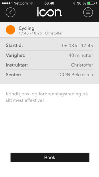 ICON Booking