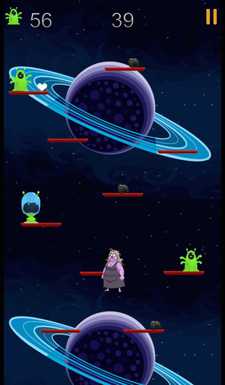 Zombie Granny vs. Aliens Outer Space Battle PRO