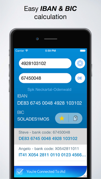 IBAN Calculator App
