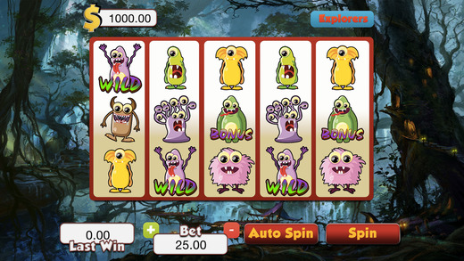 Abhorrent Cute Monster Slots - Ace Vegas Spin Casino Game FREE