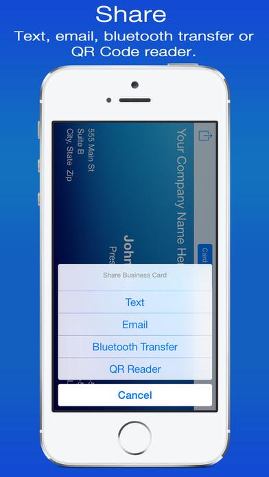 gCard Business Card Screenshots