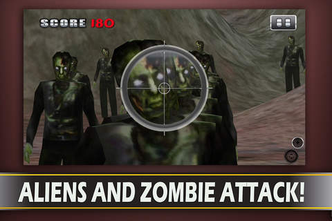 Alien Zombie Sniper Attack -  3d First Battle-field  Person Survival Shooter (FPS) screenshot 2
