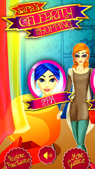 Sara's Celebrity Shopping Salon - Hot Beauty Spa Makeup Touch Fashion Design Dress up for Top Star G