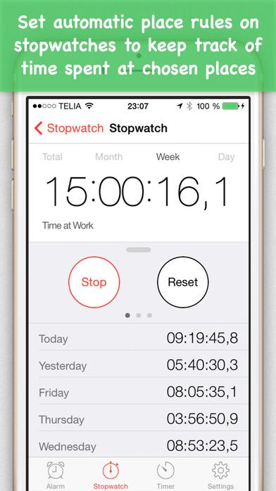 Place Clock iPhone Screenshot 4