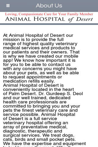 Animal Hospital of Desert - Palm Desert screenshot 2
