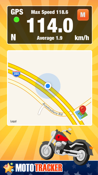 Motorcycle Ride Tracker - GPS Moto Navigation for Bikers Motoriders Scooters