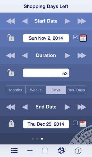 Date Wheel date calculator iPhone Screenshot 2