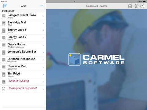 HVAC Equipment Locator iPad Screenshot 1