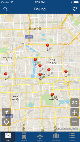 Beijing Offline Map - City Metro Airport Screenshots