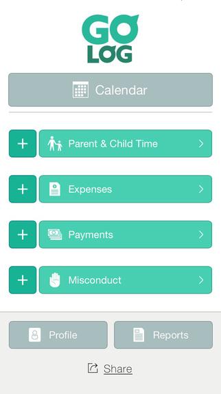 TheGoLog - Child Custody Support Tracking App