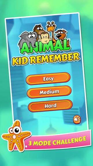 Animal remember kids game
