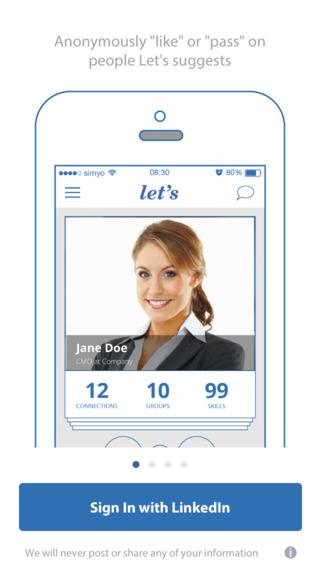 LetsApp - Networking with LinkedIn connect for managers. Jobs careers recruitments contacts opportun