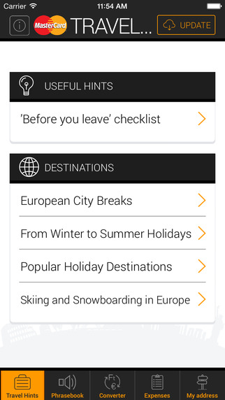 Mastercard Travel Hints