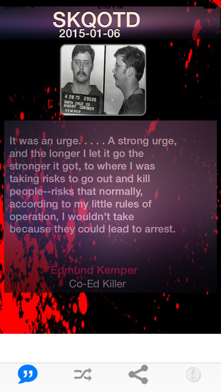 Serial Killer Quote of the Day