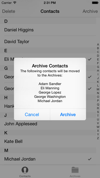 Contact Archiver