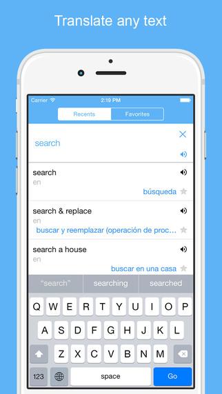 Translator Widget: Spanish English Dictionary and Translate with Definition Synonym