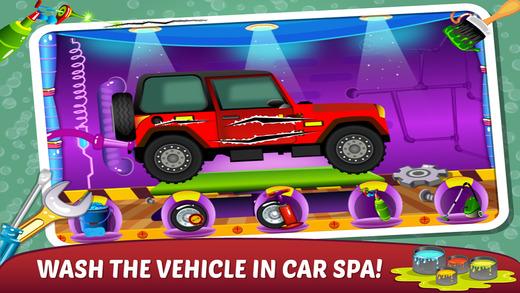 Mechanic Car Garage Spa – Make speedy Automobile in Kids Auto Repairing Work Shop and Washing Salon