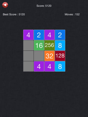 2048 - Exciting Math Board (2048,4096, 5*5) Puzzle Gamescreeshot 3