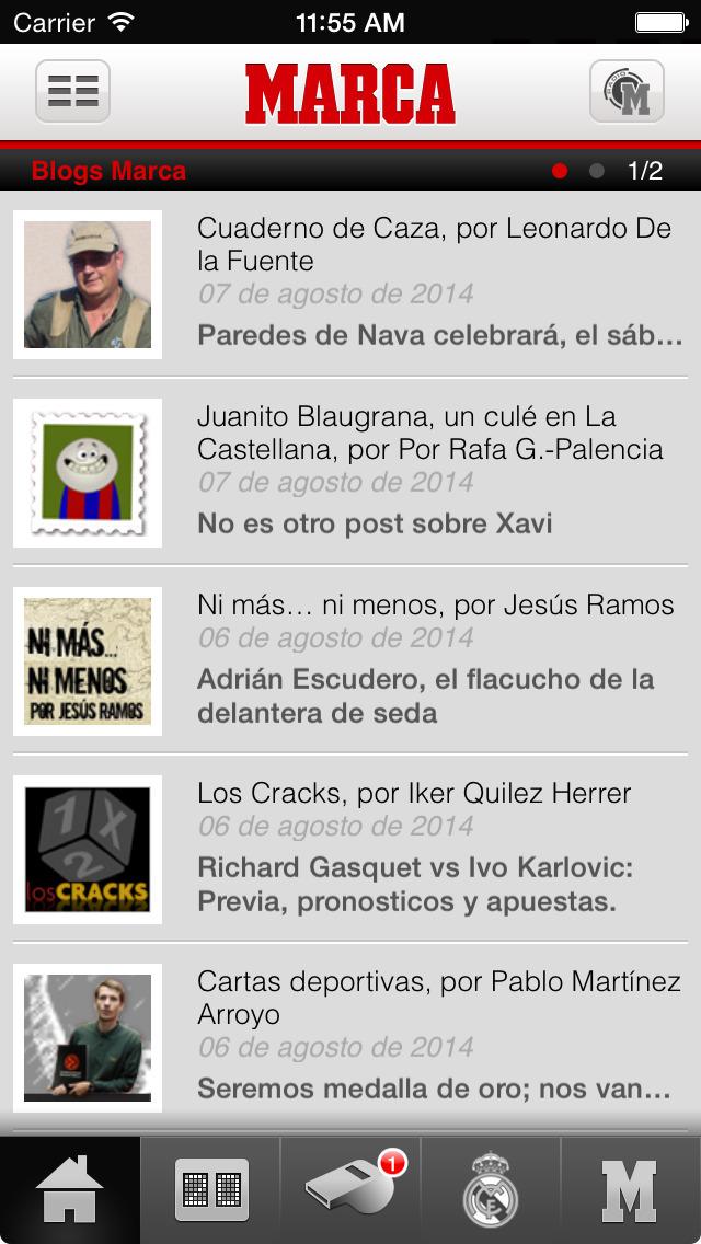 Screenshots #4. MARCA.com / iOS