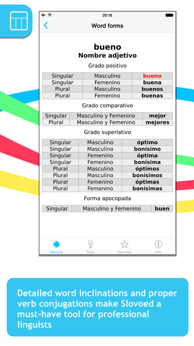 German <-> Spanish Talking SlovoEd Pocket Dictionary iPhone Screenshot 5