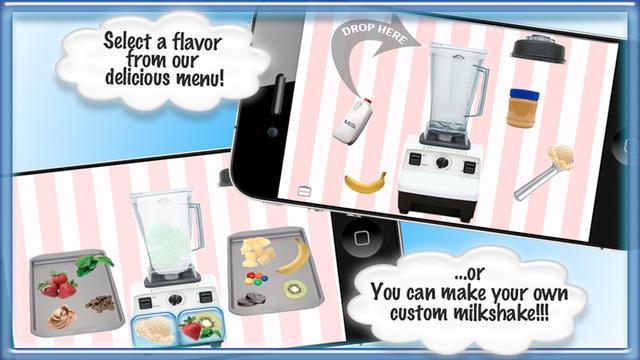 Milkshake Ice Cream Maker Game - Play Make Fun Free Smoothie Dessert Cooking Games for Girls Boys Ki