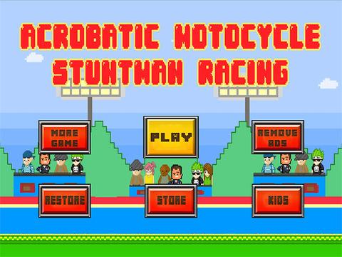 Acrobatic Motorcycle Stuntman Racing : Extreme Backflip Excitement FREE iPad Screenshot 1