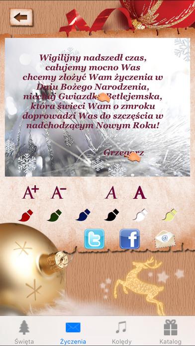 Kolędy, życzenia świąteczne - Boże Narodzenie iPhone Screenshot 3