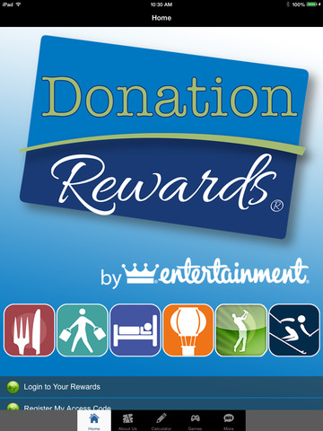 Donation Rewards - Ipad