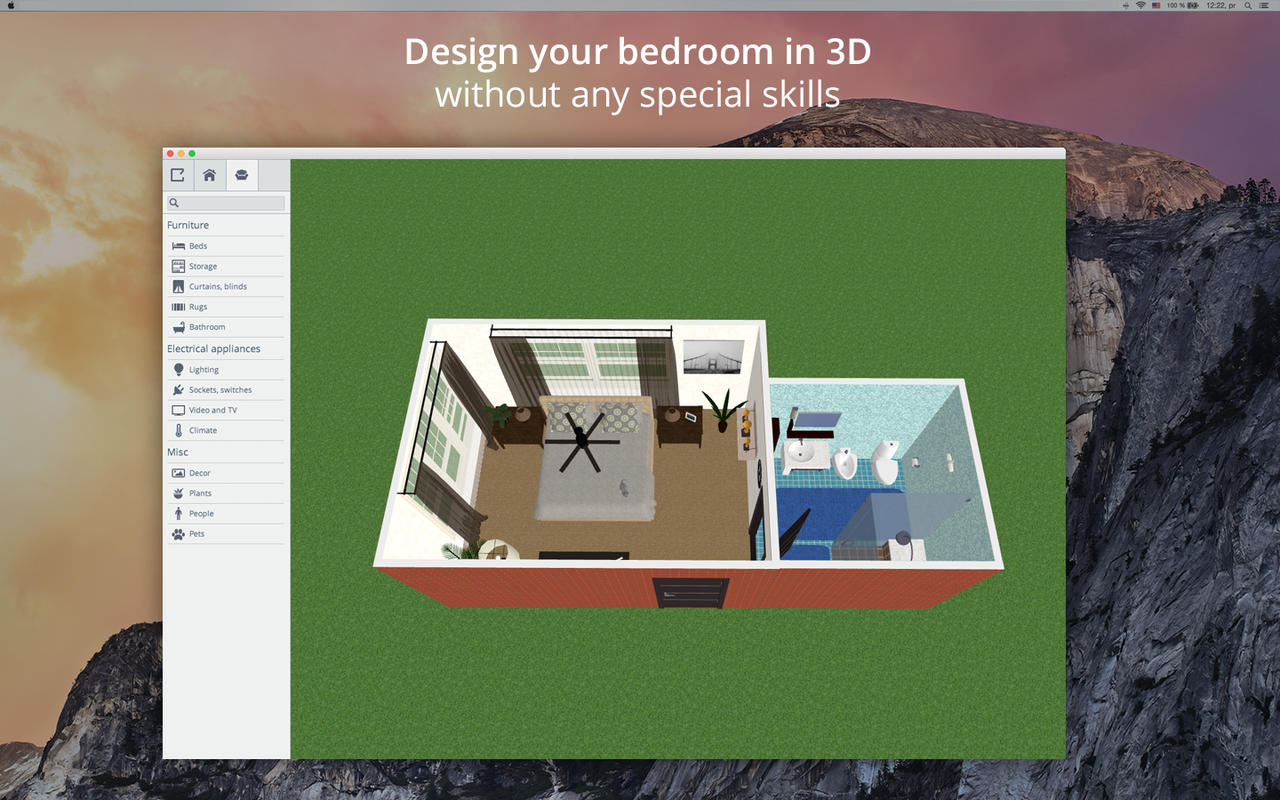 App shopper bedroom design 5d bedroom plans interior for Room design 3d app