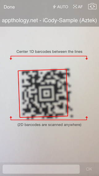 iCody WiFi Barcode Scanner iPhone Screenshot 2