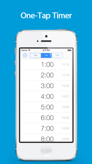 ListTimer - free one-tap countdown timer for kitchen cooking work out and alarm clock