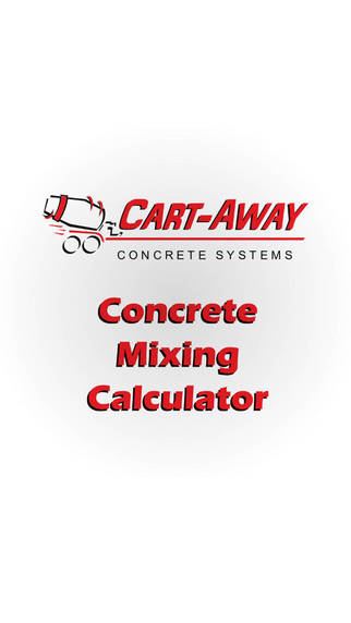 Cart Away Concrete Mixing Calculator